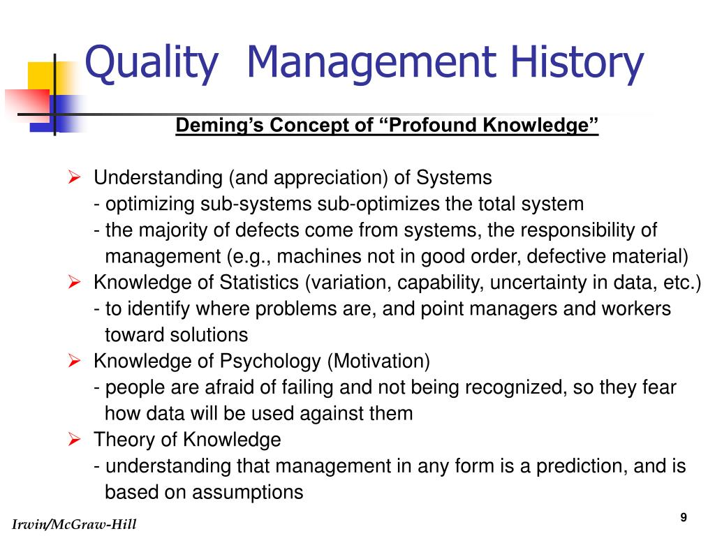 total quality management and materials management