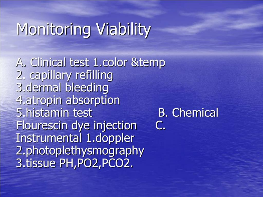 Monitoring Viability
