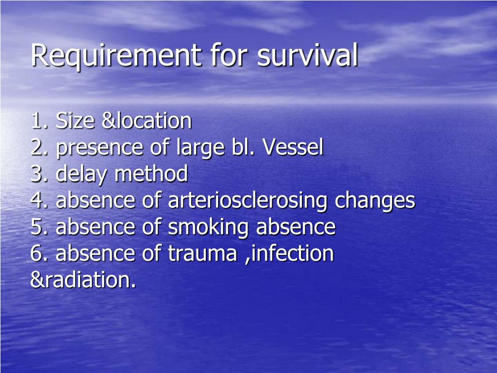 Requirement for survival