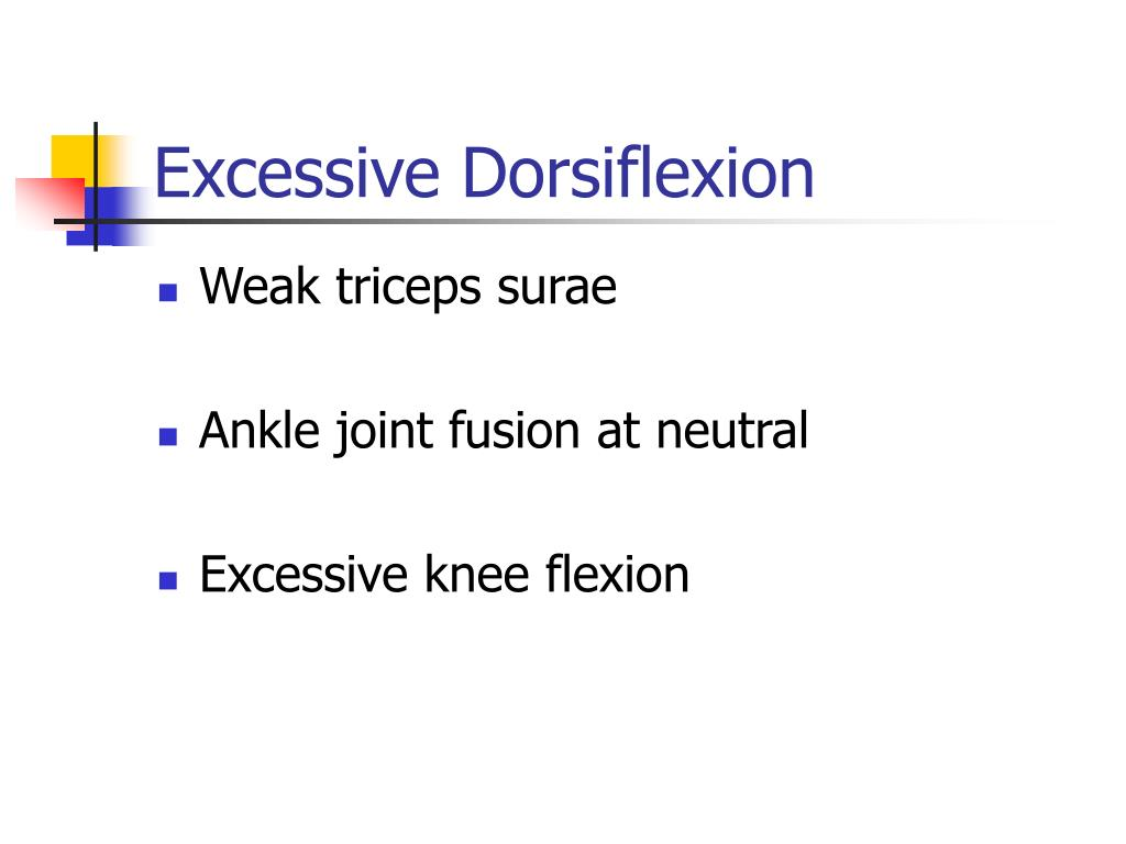 Excessive Dorsiflexion