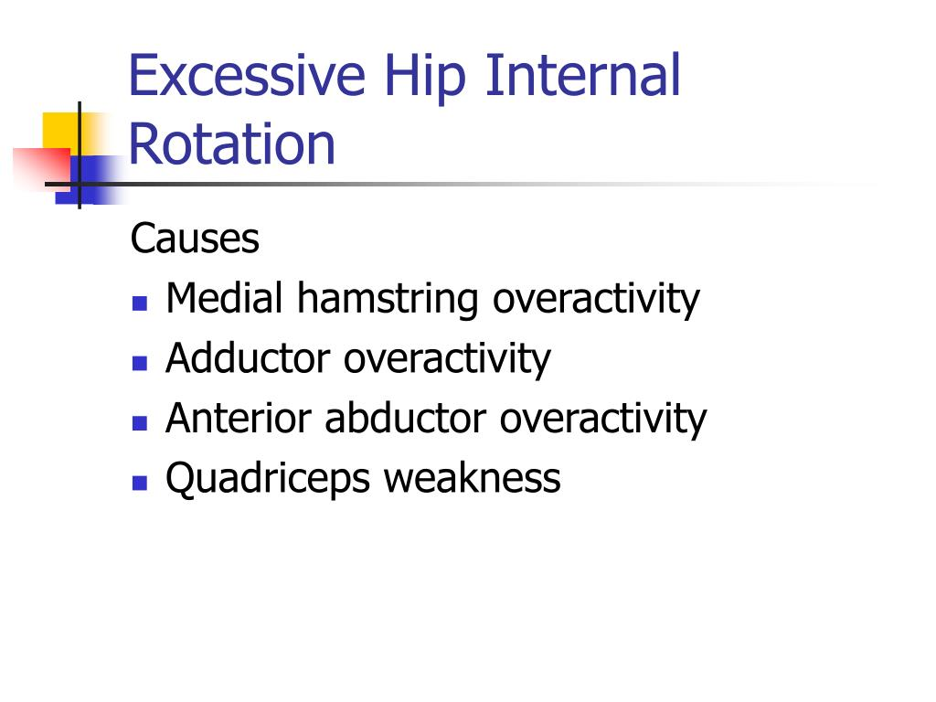 Excessive Hip Internal Rotation