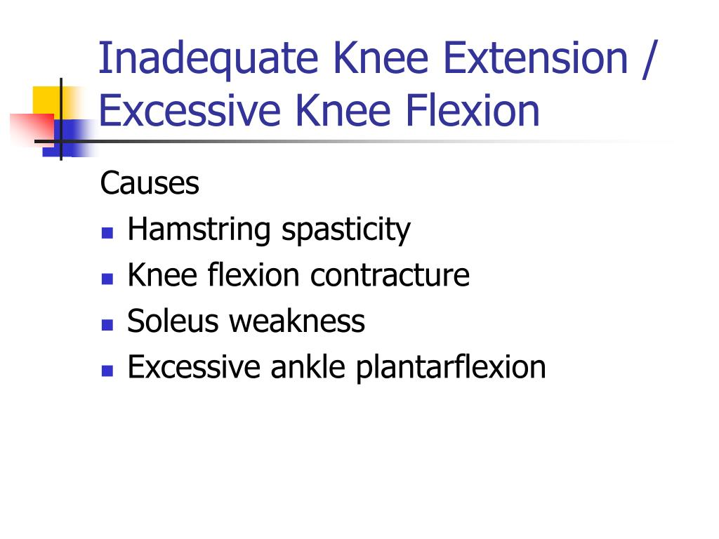 Inadequate Knee Extension / Excessive Knee Flexion