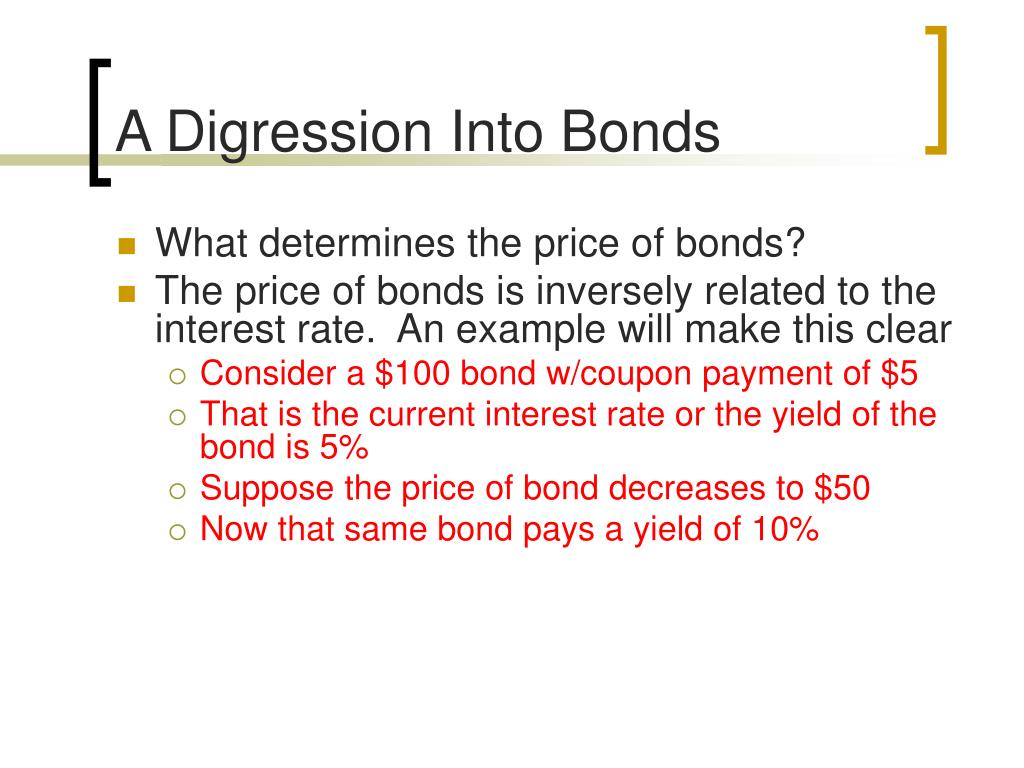 A Digression Into Bonds