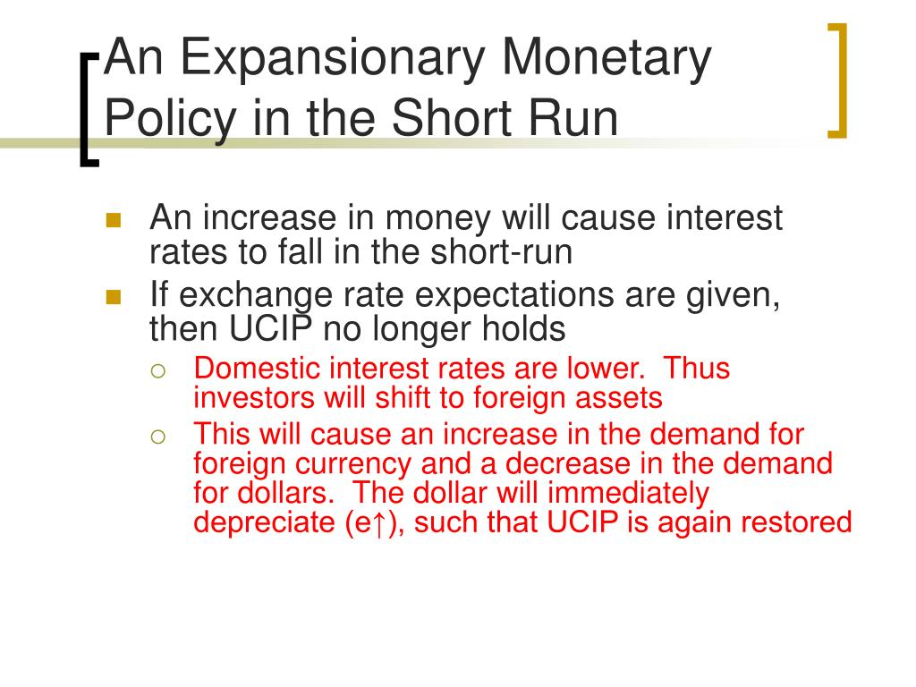An Expansionary Monetary Policy in the Short Run