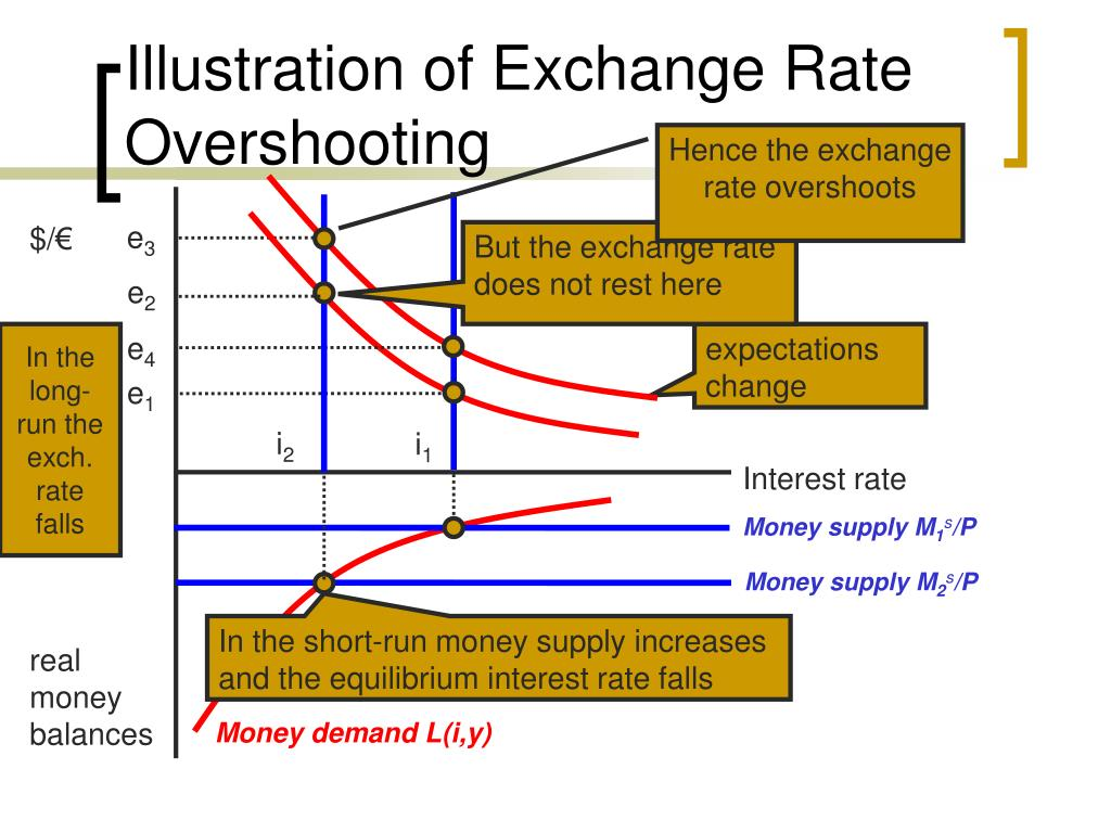 Illustration of Exchange Rate Overshooting