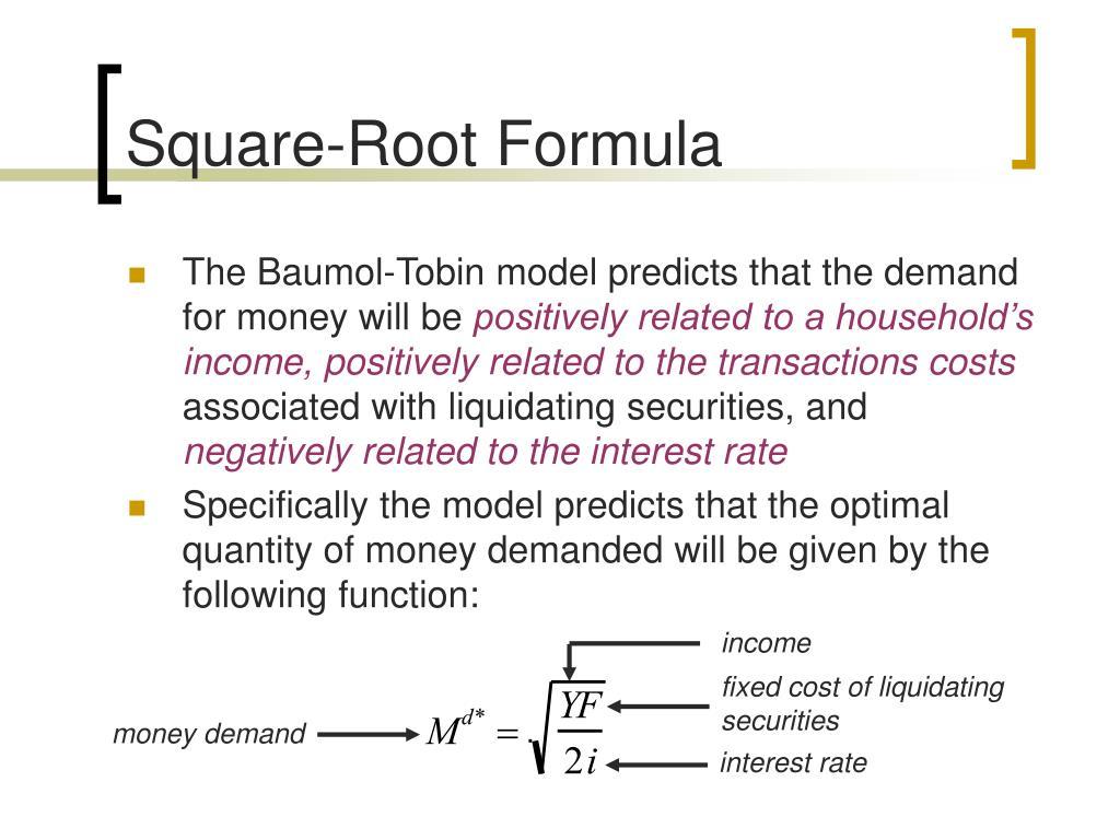 Square-Root Formula