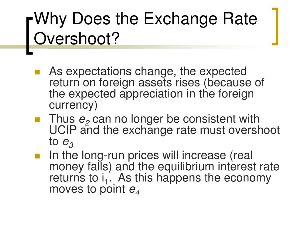 Why Does the Exchange Rate Overshoot?