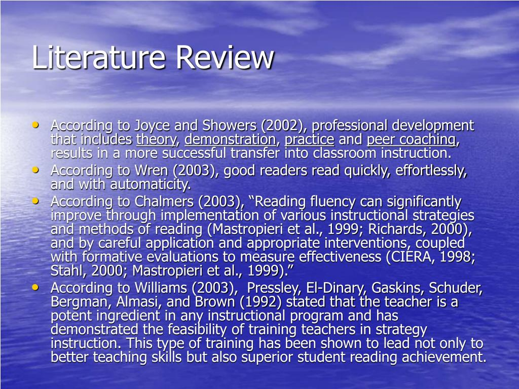 literature review on reading comprehension strategies 19 abstract this paper will review the literature surrounding effective reading comprehension strategies for teaching students with.