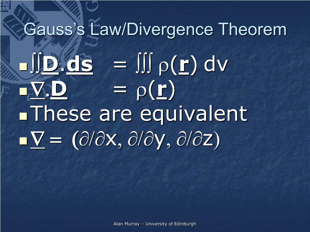 Gauss's Law/Divergence Theorem