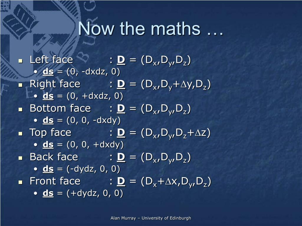 Now the maths …