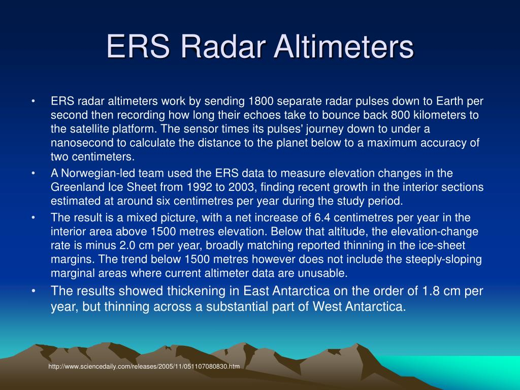 ERS Radar Altimeters