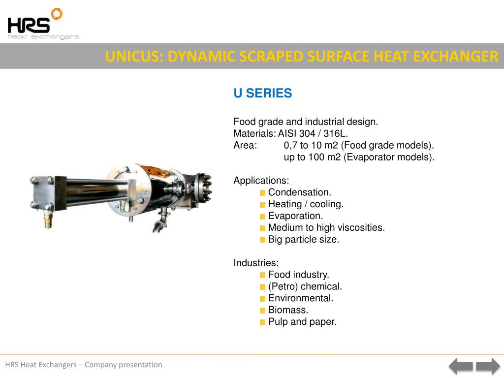 UNICUS: DYNAMIC SCRAPED SURFACE HEAT EXCHANGER