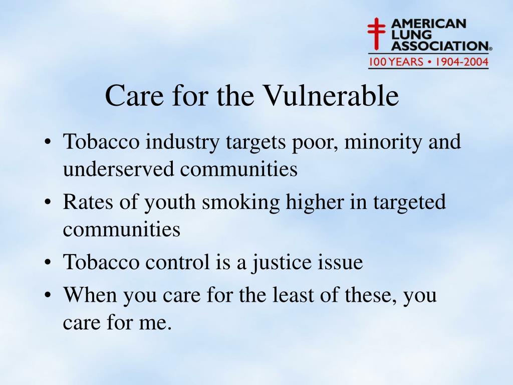 Tobacco industry targets poor, minority and underserved communities
