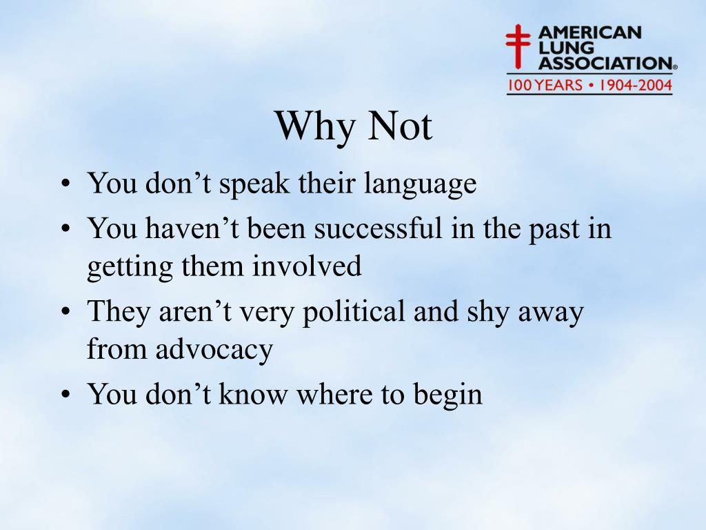 You don't speak their language