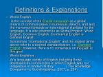 definitions explanations