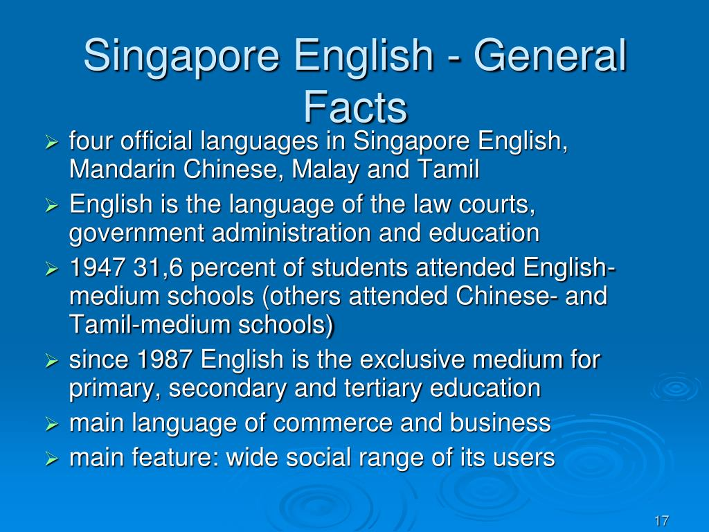 Singapore English - General Facts