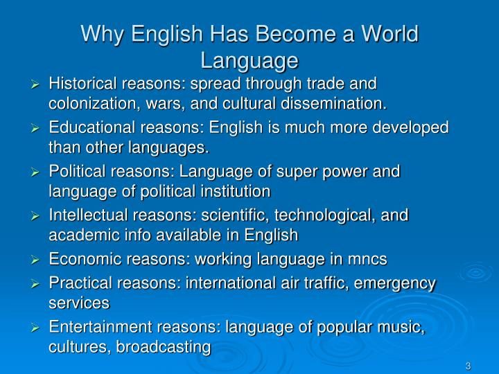 Why english has become a world language