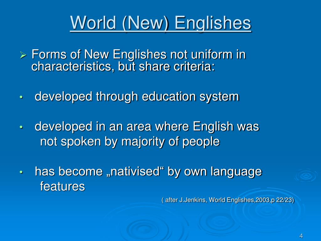 World (New) Englishes