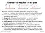 example 1 impulse step signal