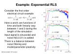 example exponential rls