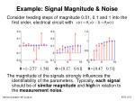 example signal magnitude noise