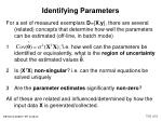 identifying parameters