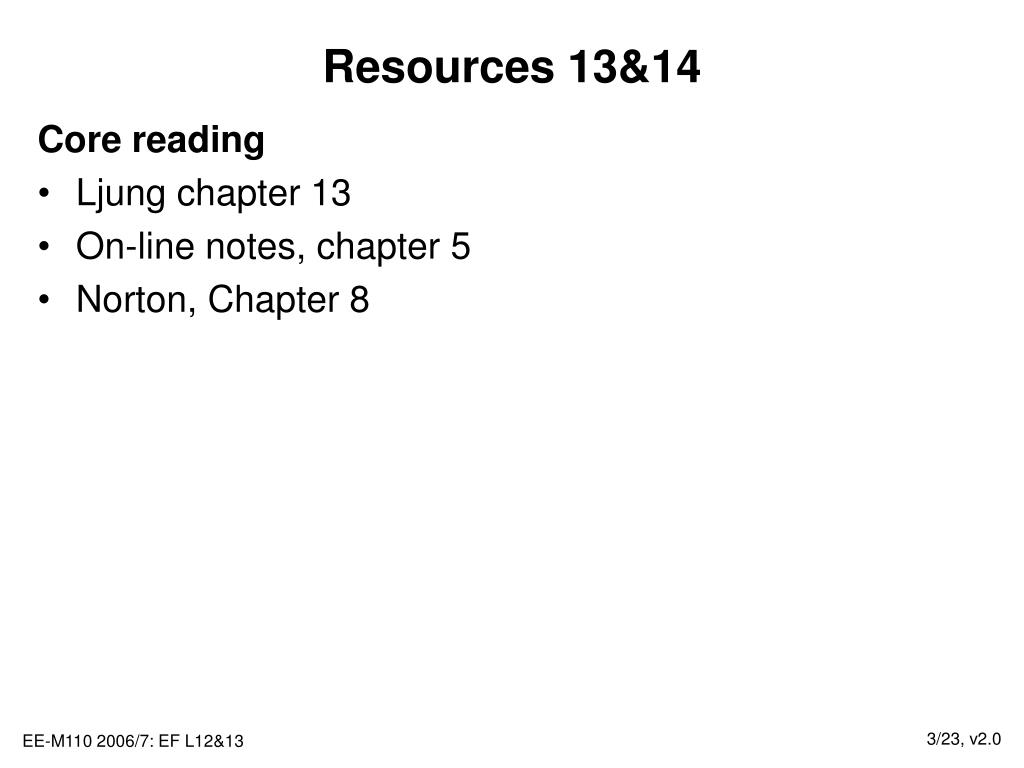 Resources 13&14