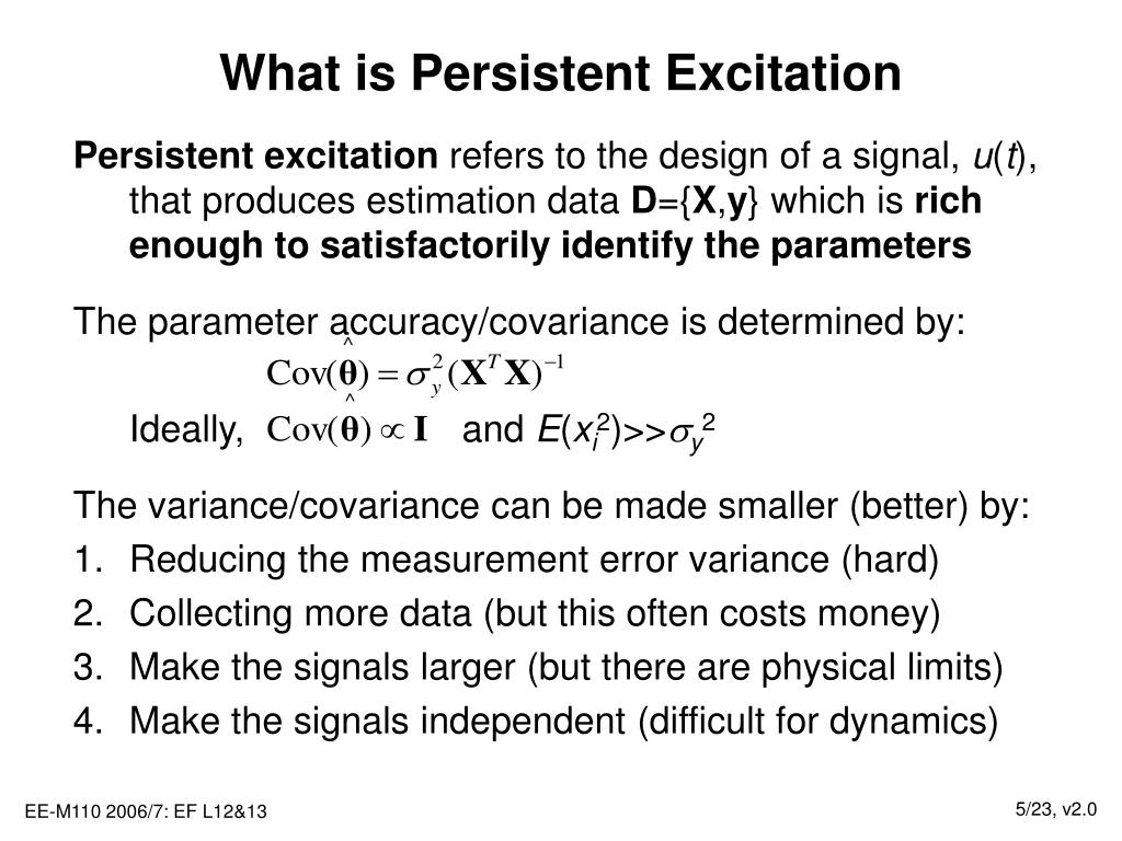 What is Persistent Excitation