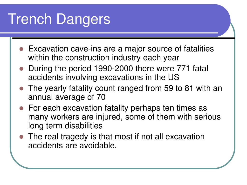 Trench Dangers