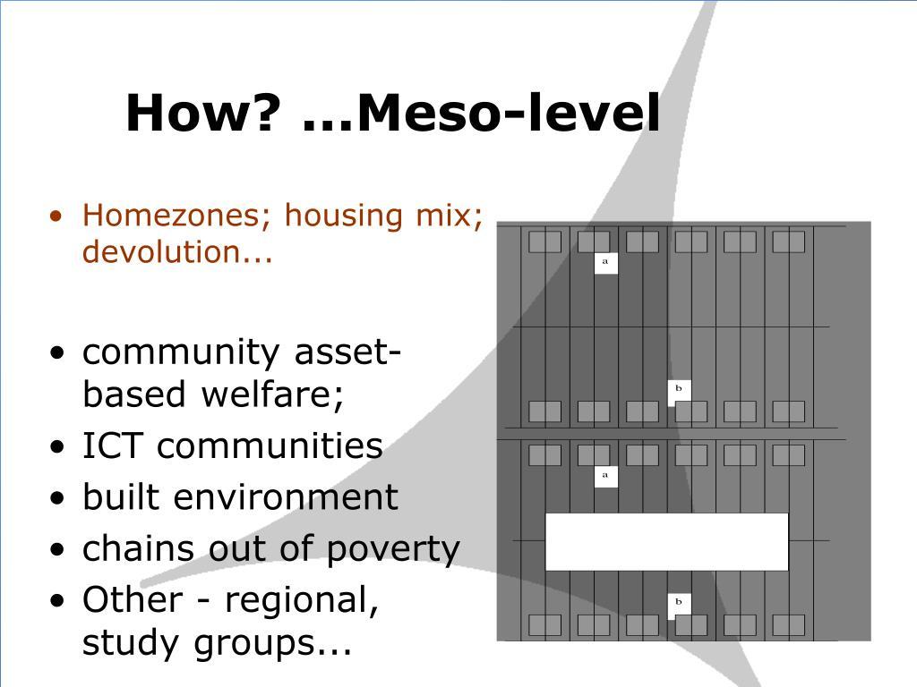 How? ...Meso-level