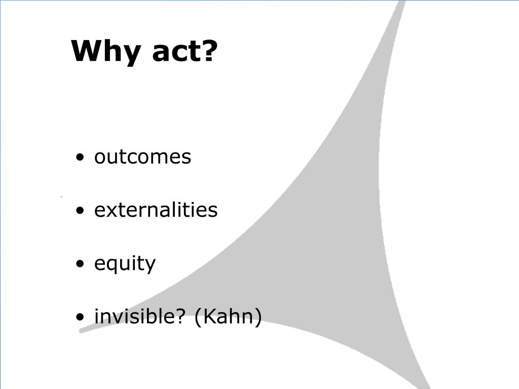Why act?