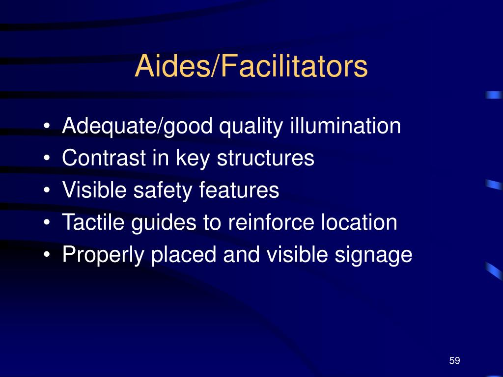 Aides/Facilitators