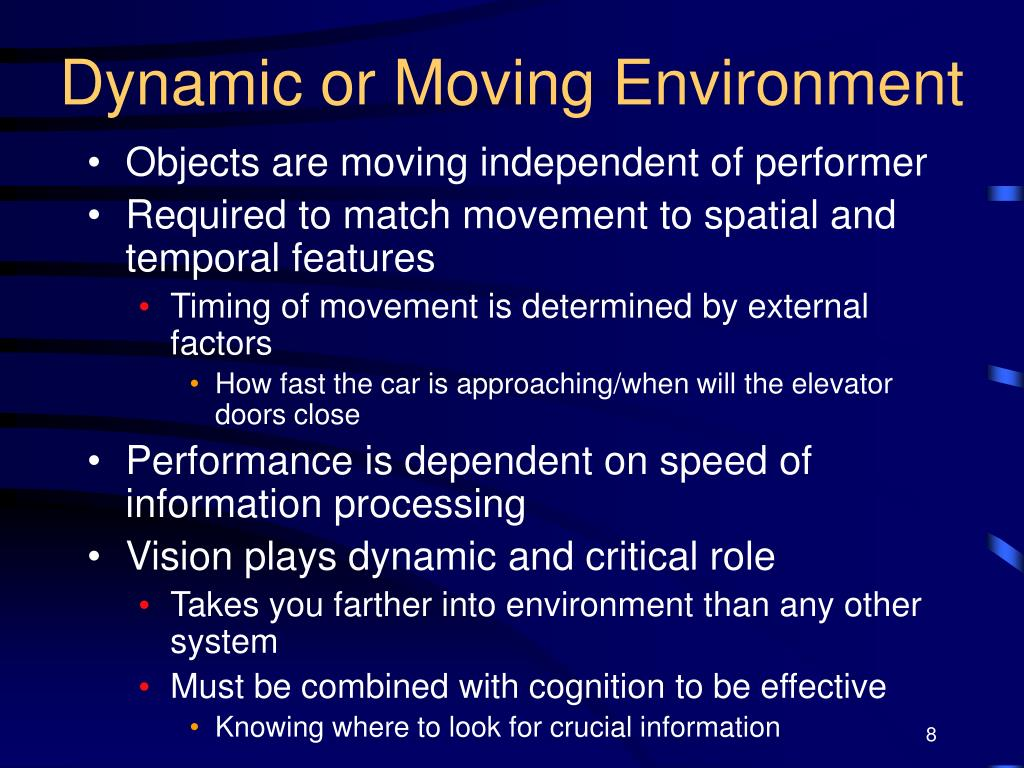 Dynamic or Moving Environment