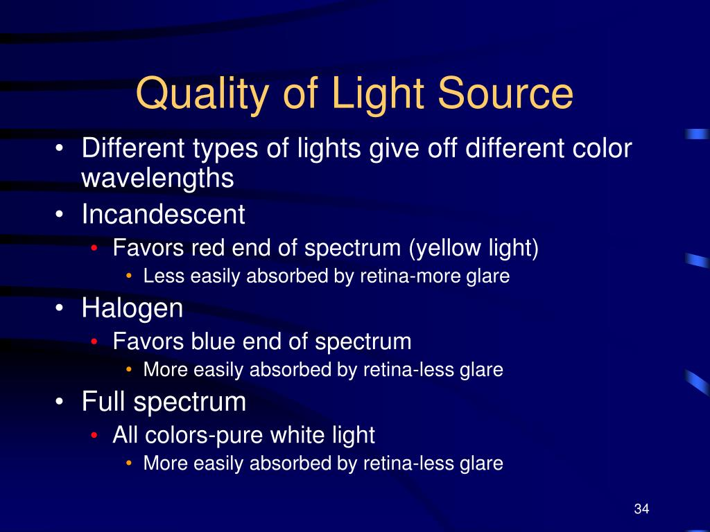 Quality of Light Source
