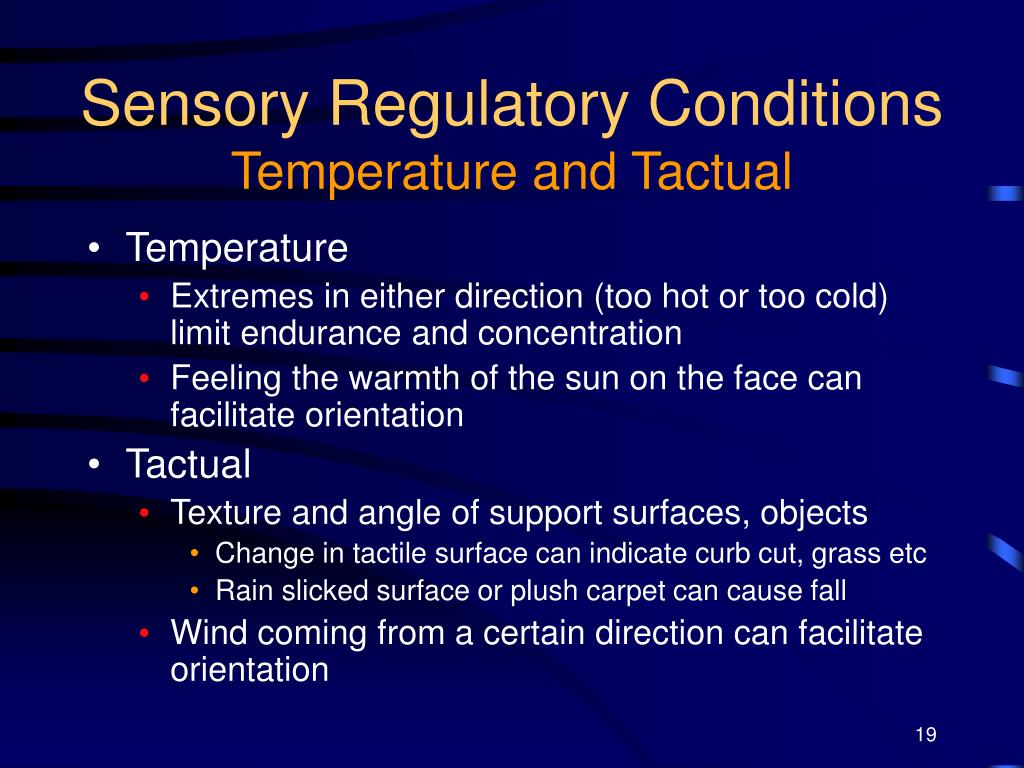 Sensory Regulatory Conditions