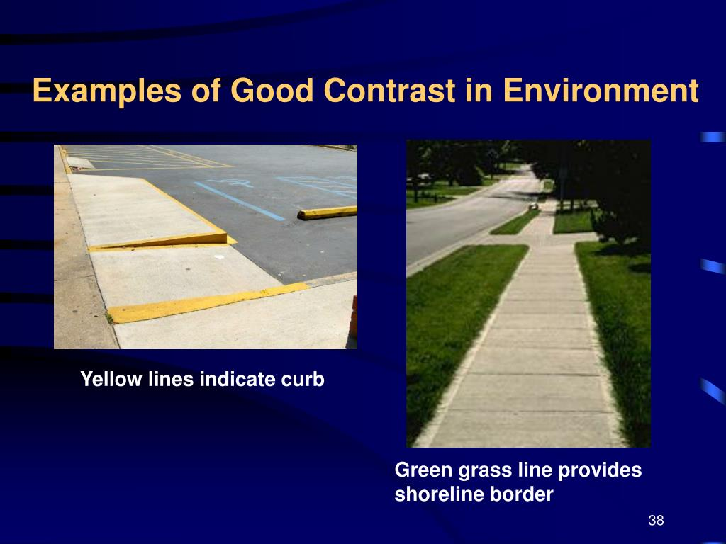 Examples of Good Contrast in Environment