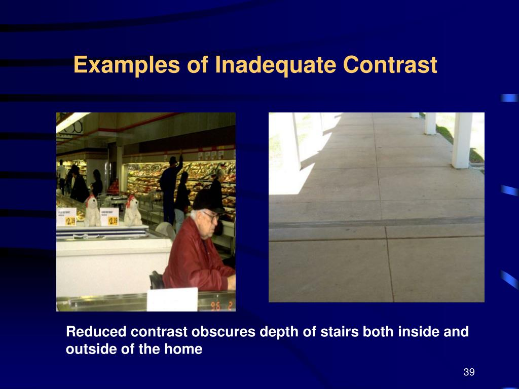 Examples of Inadequate Contrast