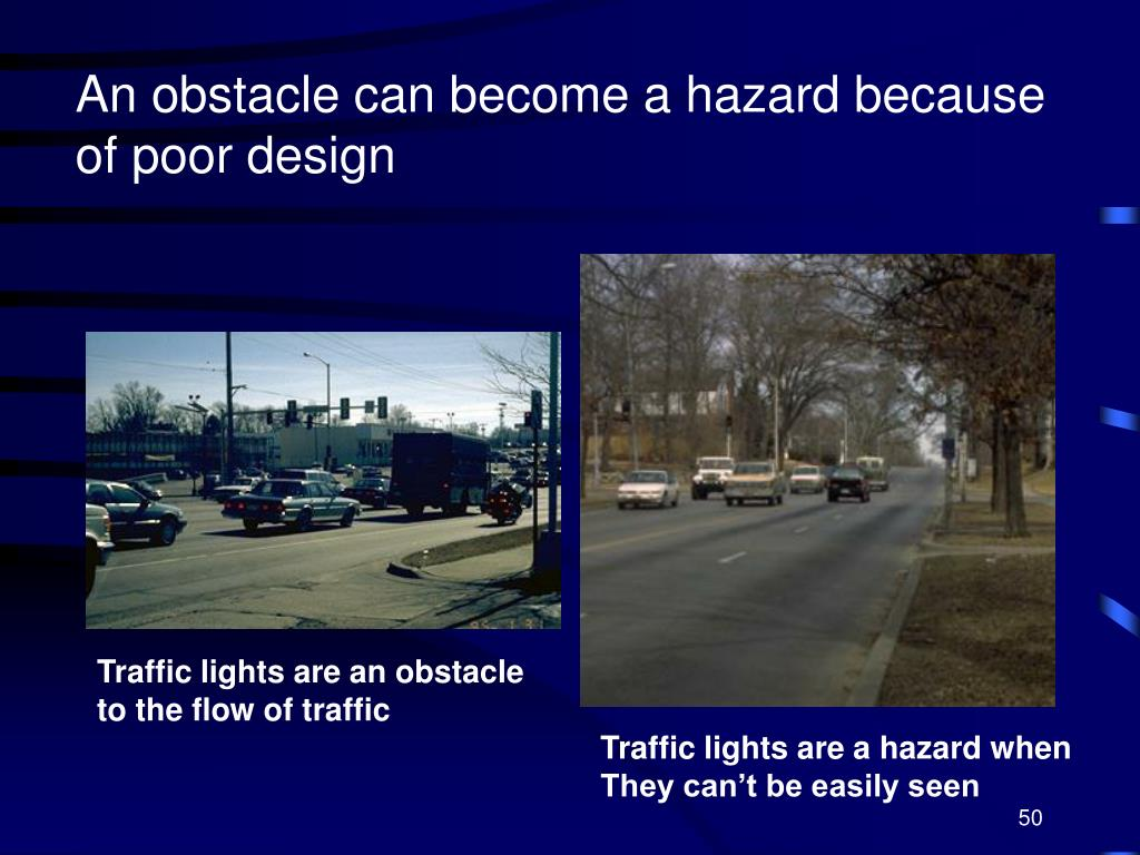 An obstacle can become a hazard because