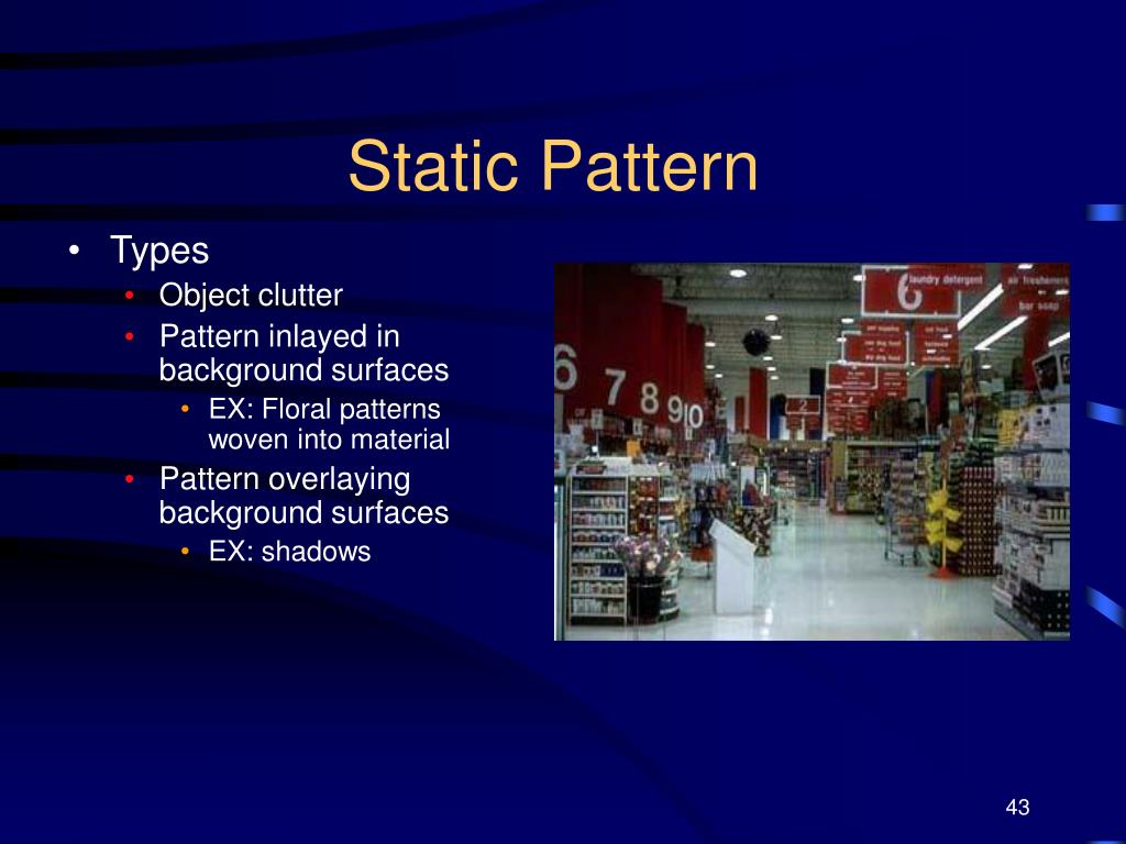 Static Pattern