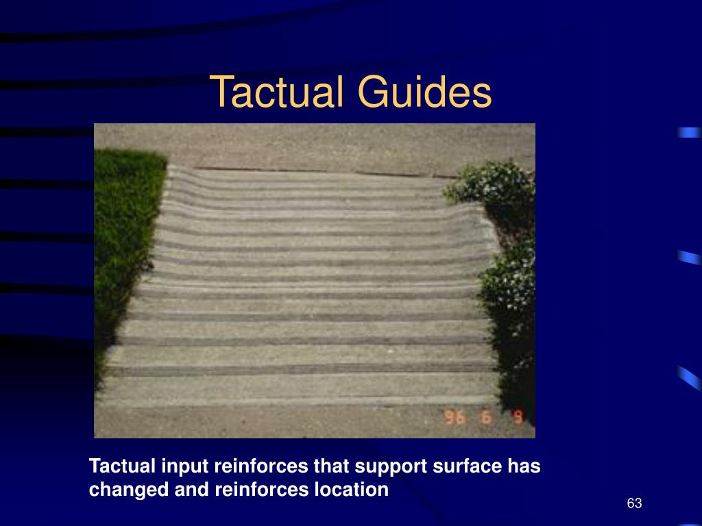 Tactual Guides