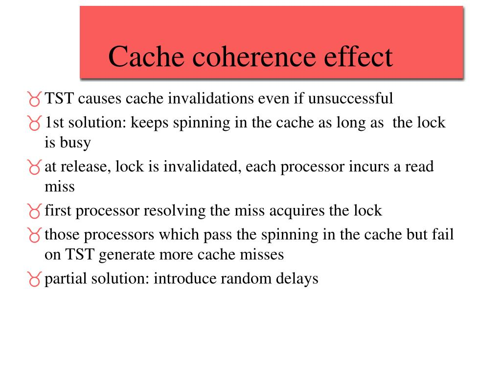 Cache coherence effect