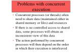 problems with concurrent execution