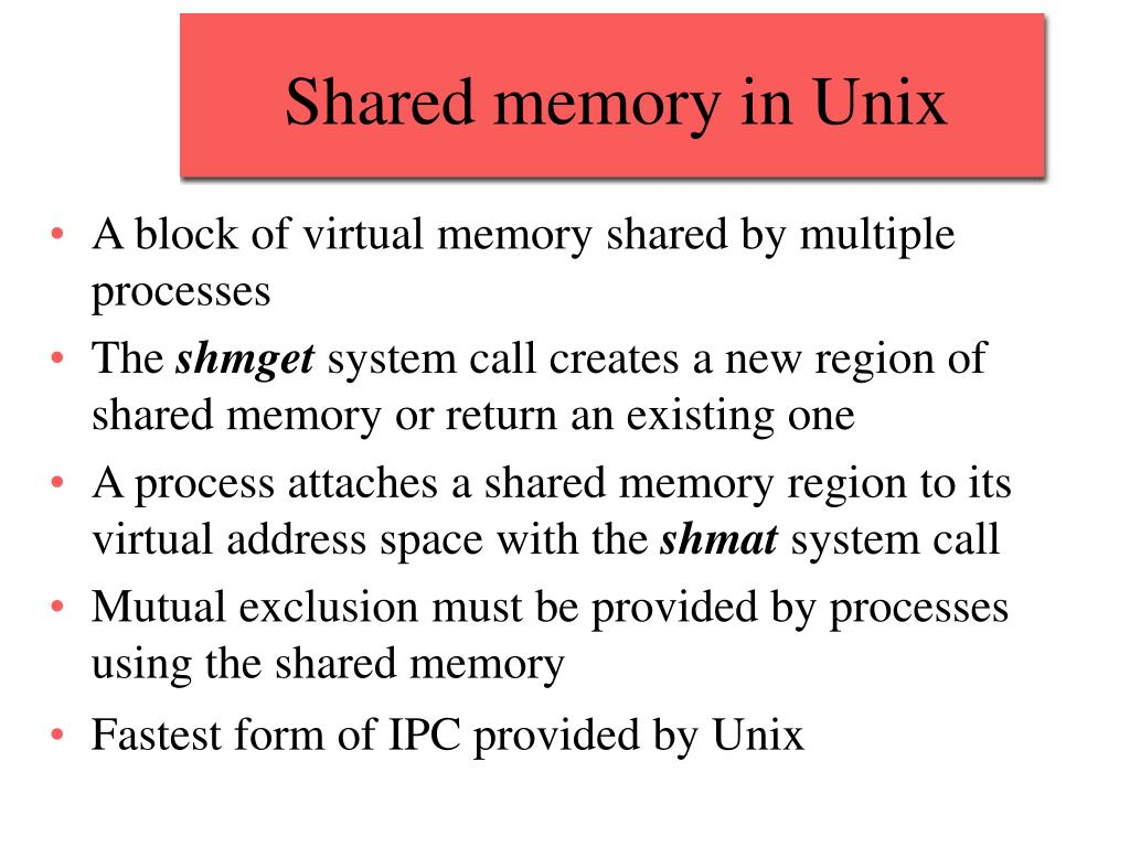 Shared memory in Unix
