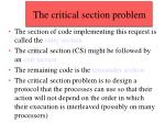 the critical section problem9