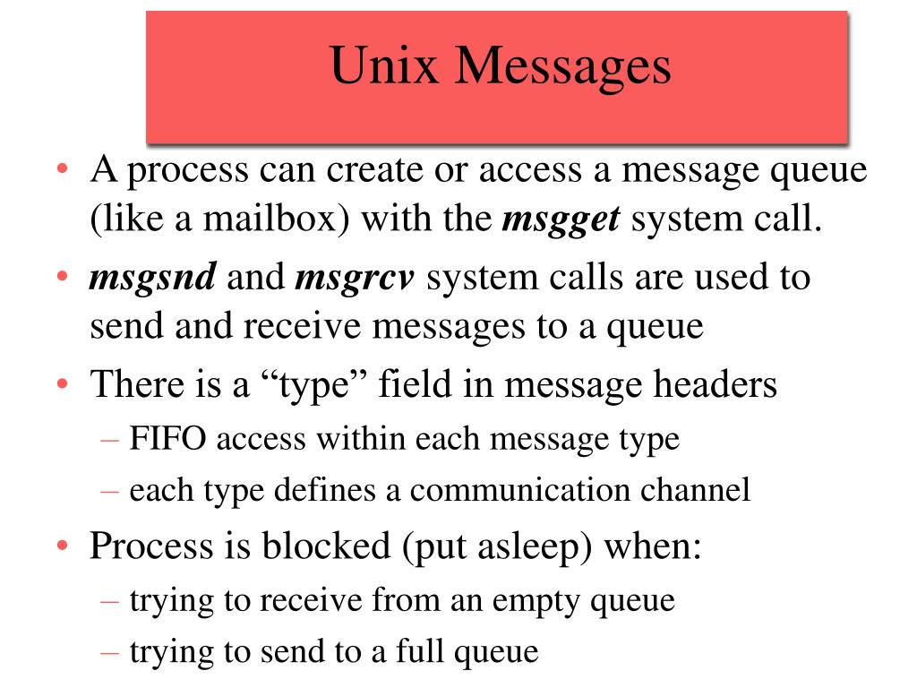 Unix Messages