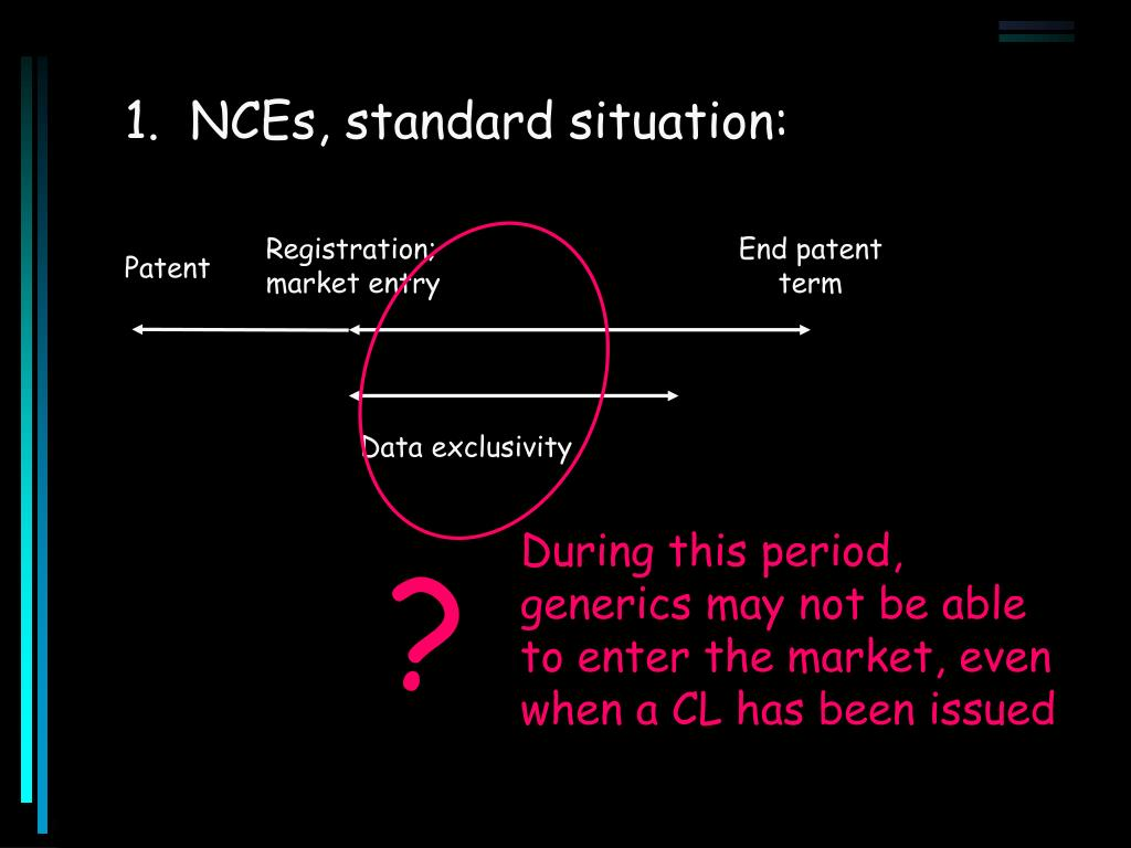1.  NCEs, standard situation: