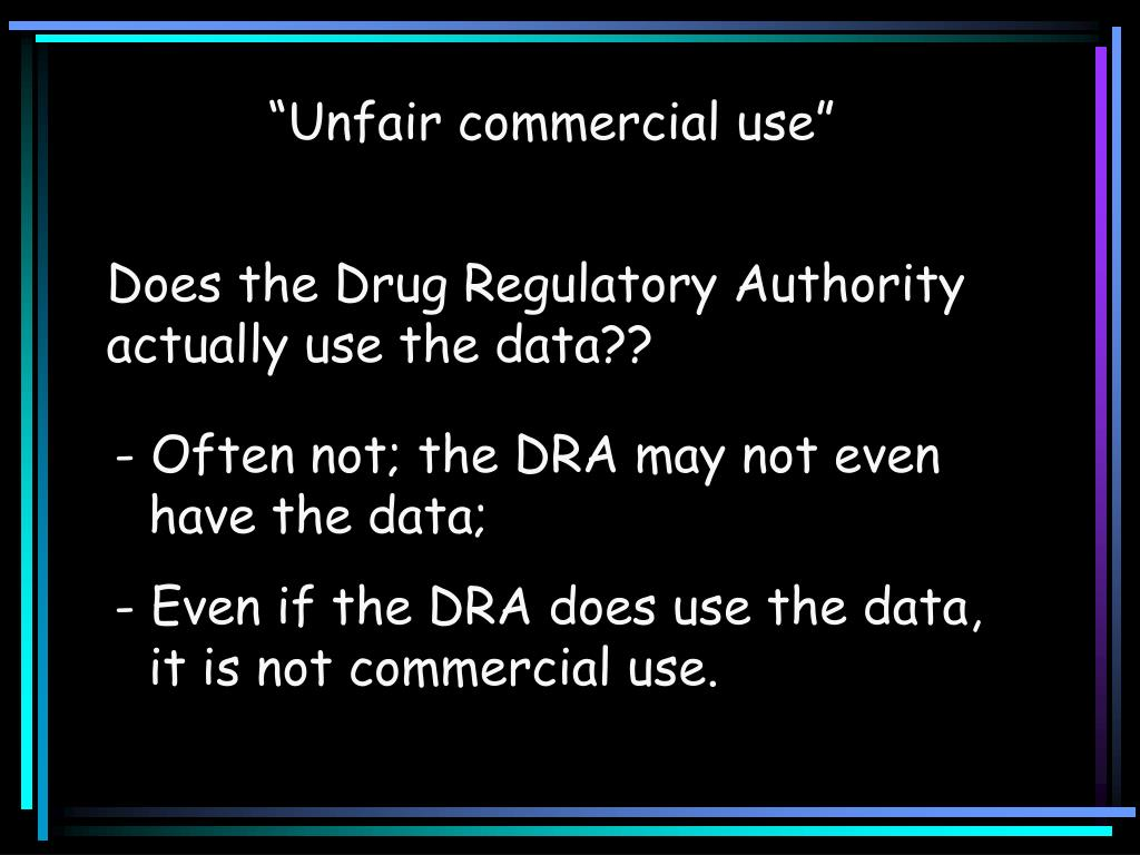 """Unfair commercial use"""