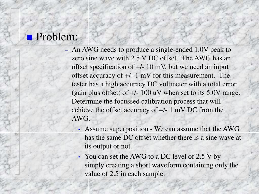 Problem: