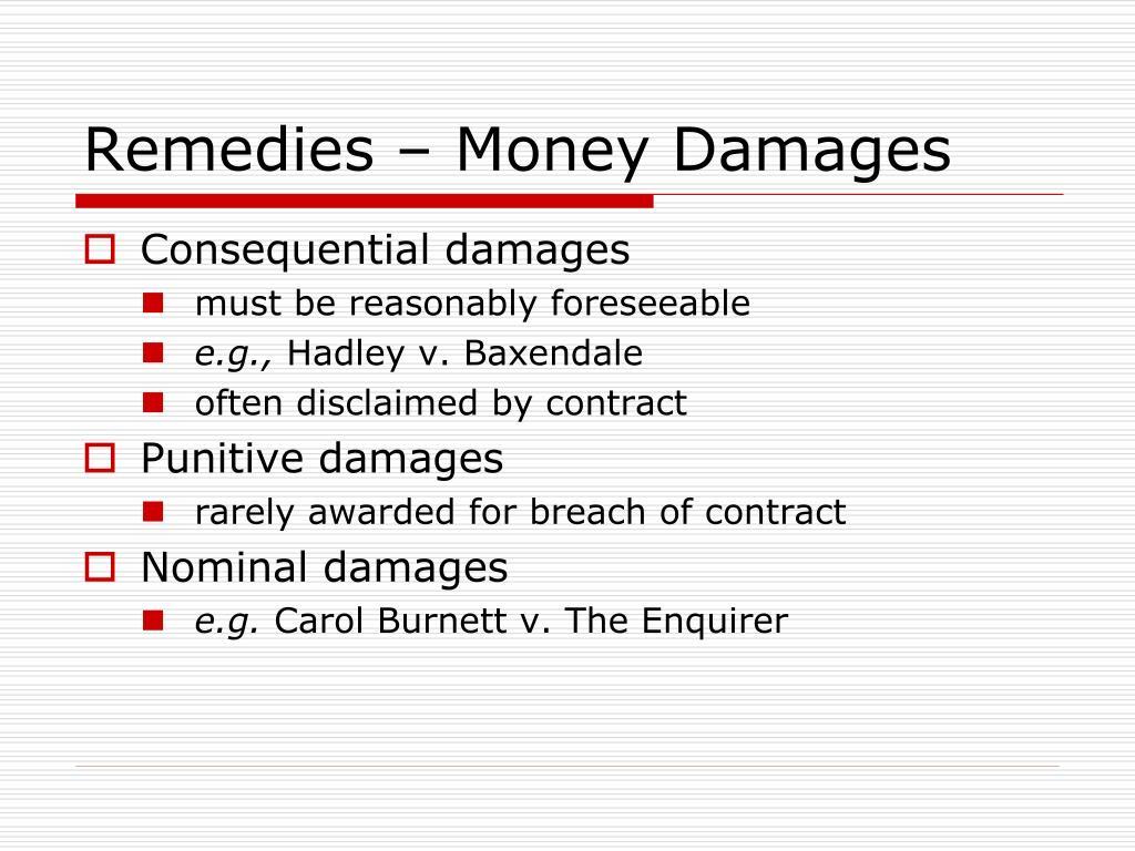 Remedies – Money Damages