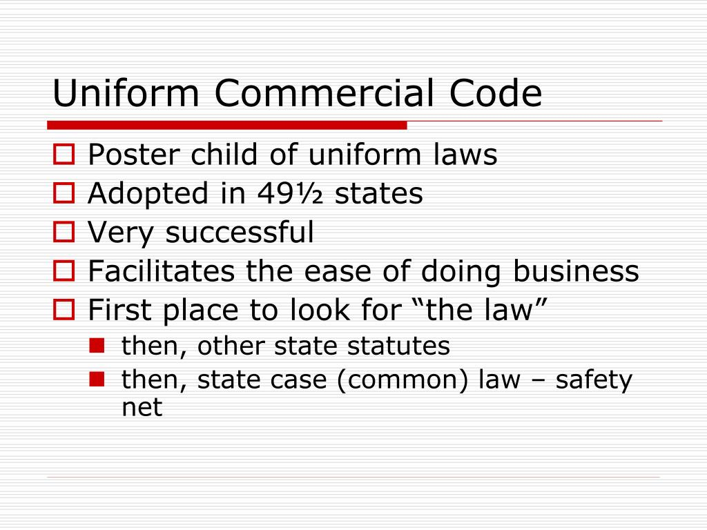 Uniform Commercial Code